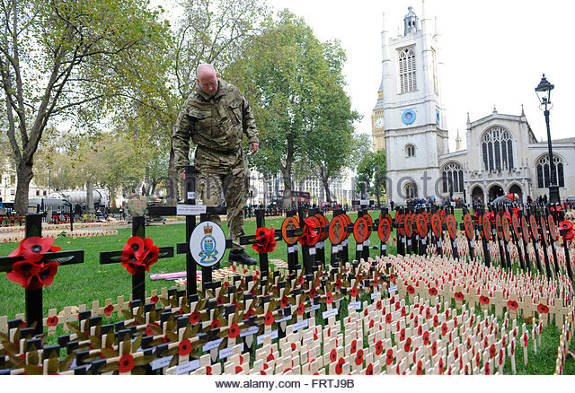 a-soldier-visits-westminster-abbey-gardens-where-poppy-crosses-with-frtj9b